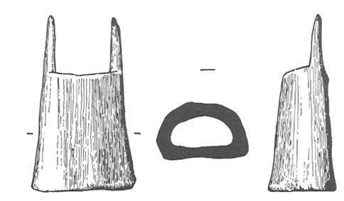 Bone lucet fromThetford, 10th-11th C