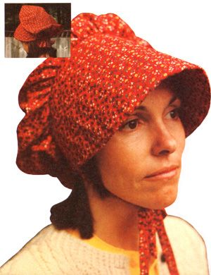 Another prairie bonnet pattern