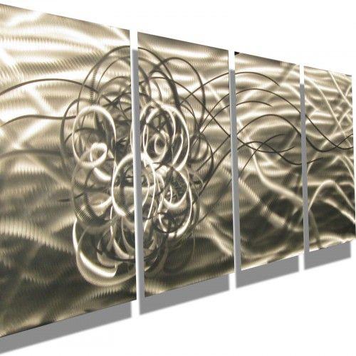 Metal Art For Walls metal art wall art abstract modern decor sculpture silver torrent