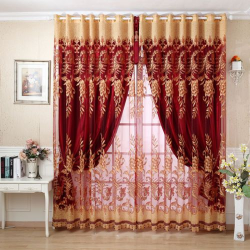 Customize-curtain-french-window-curtain-pleated-drapes-tulle-full-light-shading