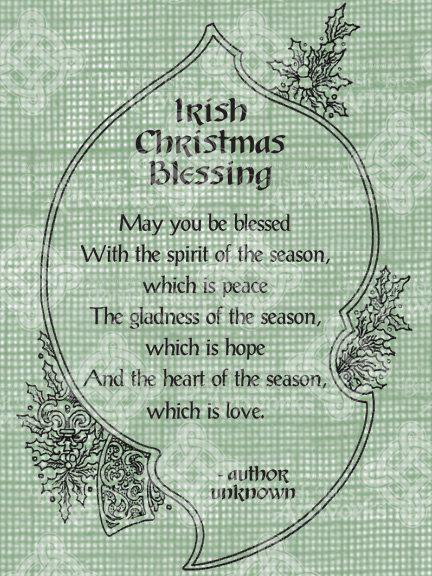 Irish Christmas blessing