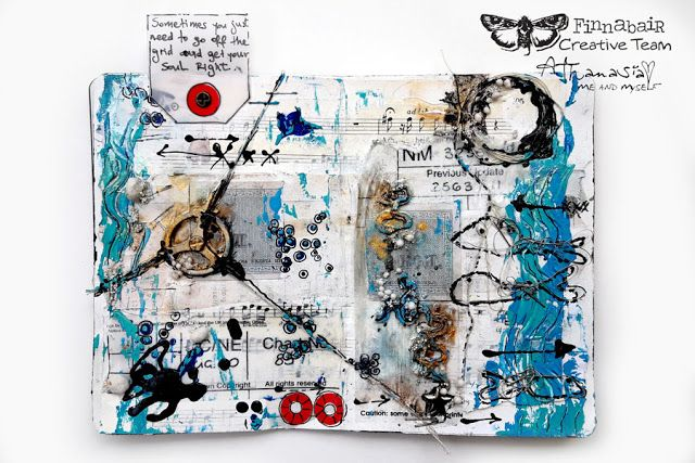 Hello everyone!   Today I'm hosting the Finnabair  blog with a new page in my super mini art journal   and comes with a VIDEO showing the ...