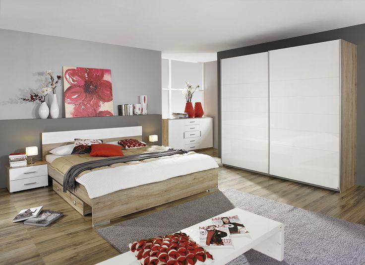 Cute Schlafzimmer set Mit Bett X Cm Eiche Sanremo Hell Woody