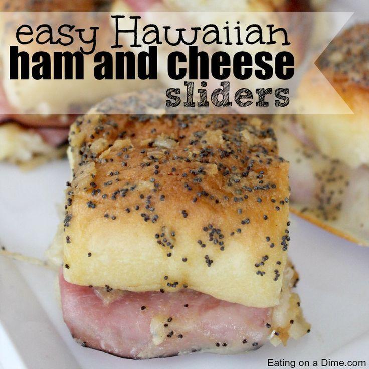 hawaiian roll ham and cheese sliders