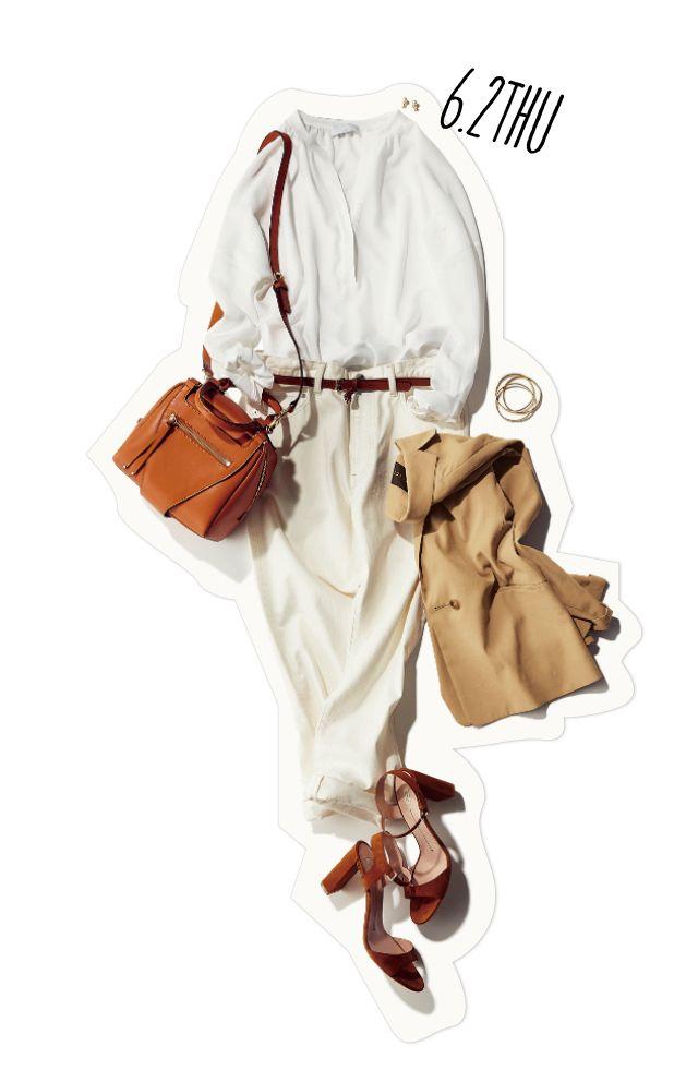 もう6月! 大人のオールホワイト×ジャケットで、気分一新気合を入れて♪-@BAILA