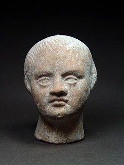 Όστρακο Αρχαία Τέχνη, ετρουσκική Αναθηματικό κεφάλι του παιδιού, 3ο / 2ο αιώνα…