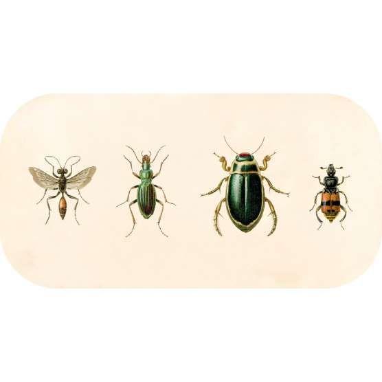 Bricka 43x22 cm, Insekter
