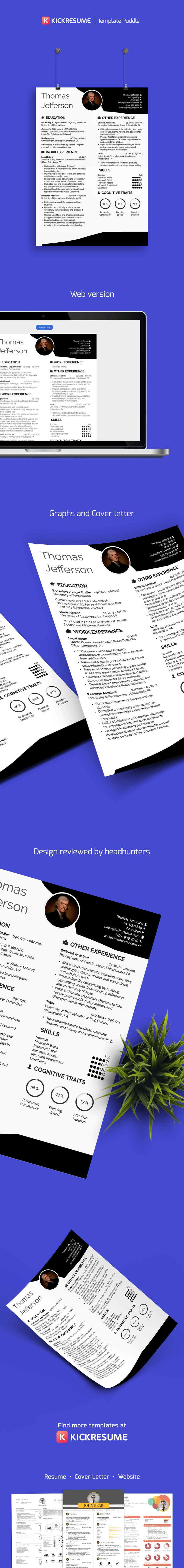 Perfect resume template and cover letter template