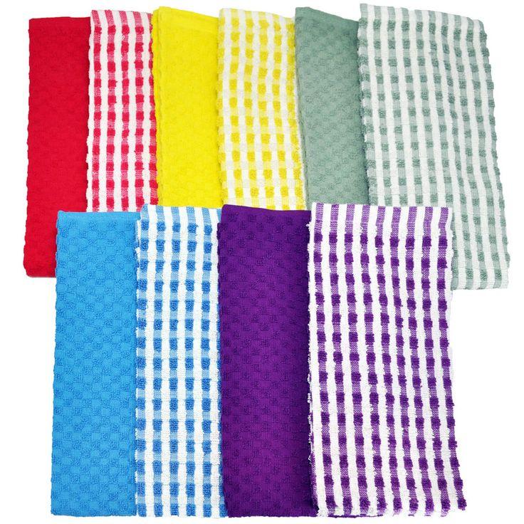 Cotton Terry Kitchen Towel 10-piece Set | Overstock.com