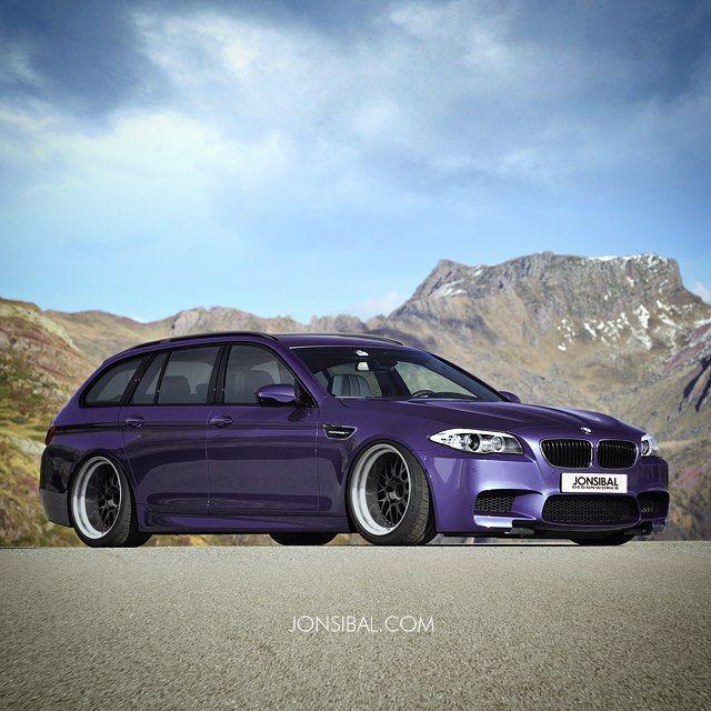 jonsibal:  Imagining a F11 M5 in Techno Violet #WagonWednesday #bmw #m5 #f11 #wagon #jonsibal