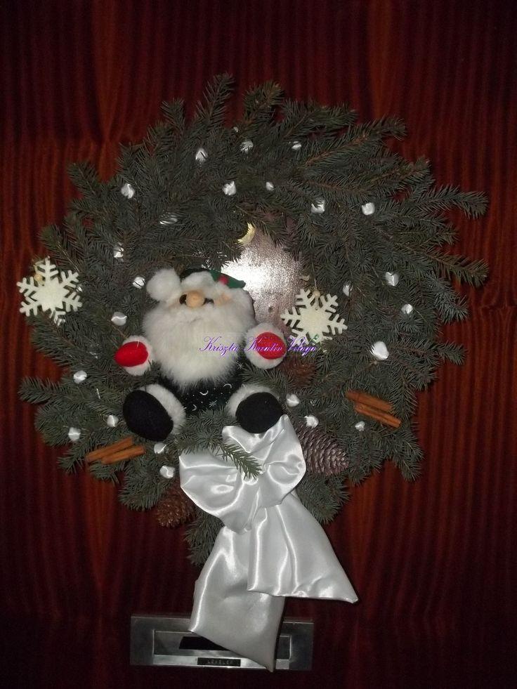 Karácsonyi manó ajtódísz