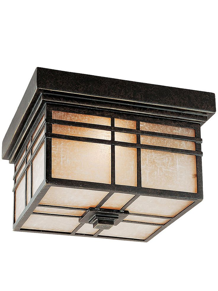 Arts and Crafts Lighting. Hillcrest Small Wall Lantern in Imperial Bronze.