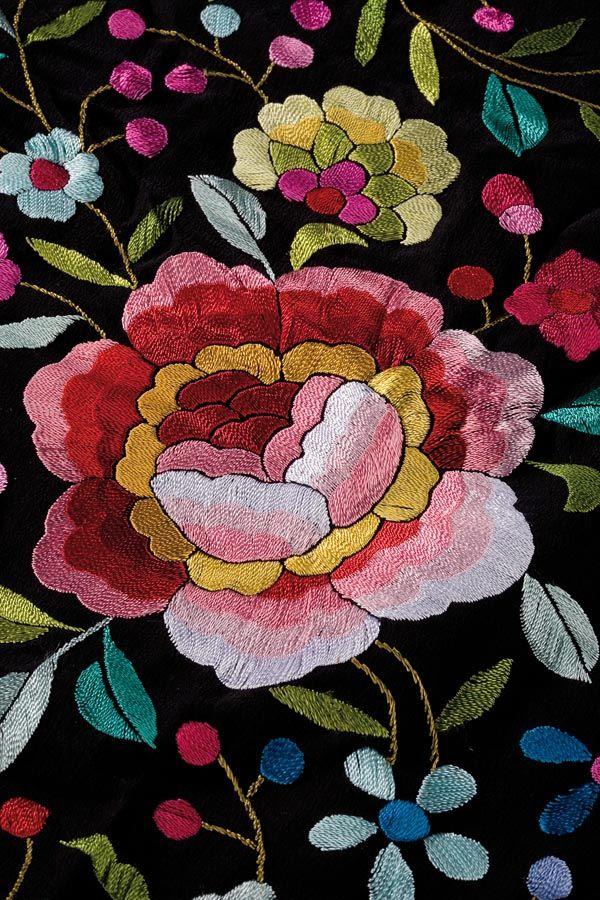 Design from a Manila shawl