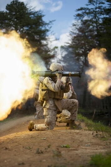 A Marine with Company B conducts live fire AT-4 training ...