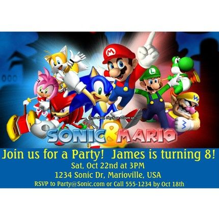 57 best Mario and Sonic Party images on Pinterest | Sonic ...