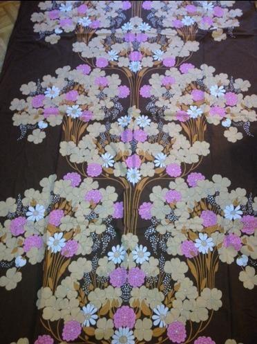 Retro Vintage Påslakan Tyg Textil Sy 70 Tal på Tradera.com - Sängkläder