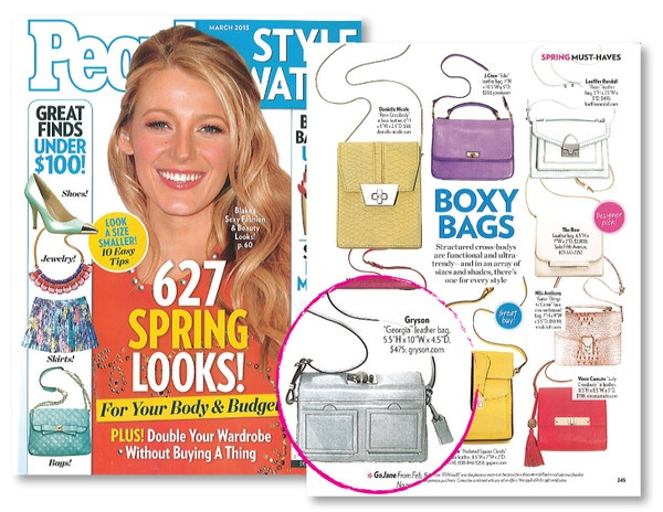 Bags by Joy Gryson, favorite of Kristen Bell, Jessica Biel, Katie Holmes, Jessica Alba and Isla Fisher