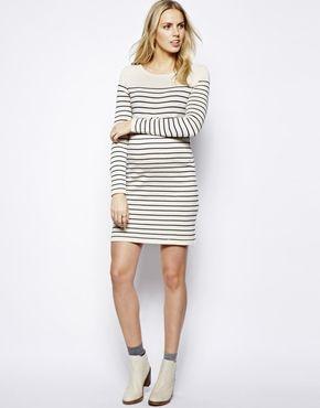 Bild 4 von ASOS Maternity – Pulloverkleid mit Bretonstreifen