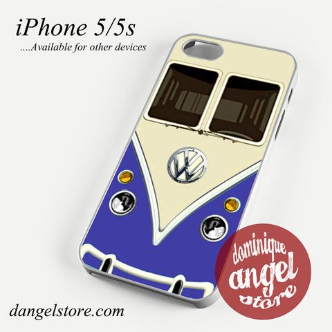 blue vw retro bus Phone case for iPhone 4/4s/5/5c/5s/6/6 plus
