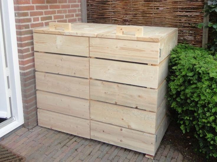 Kliko-ombouw voor 2 kliko`s afvalbak container