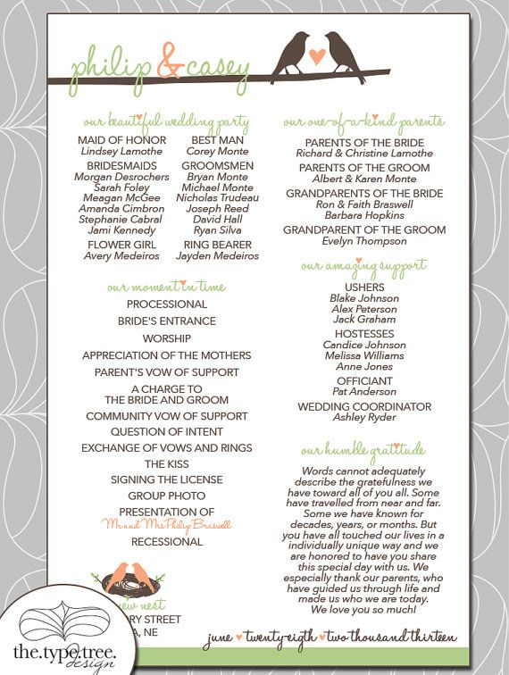17 best images about wedding programs on pinterest unique wedding programs program fans and for Wedding program info