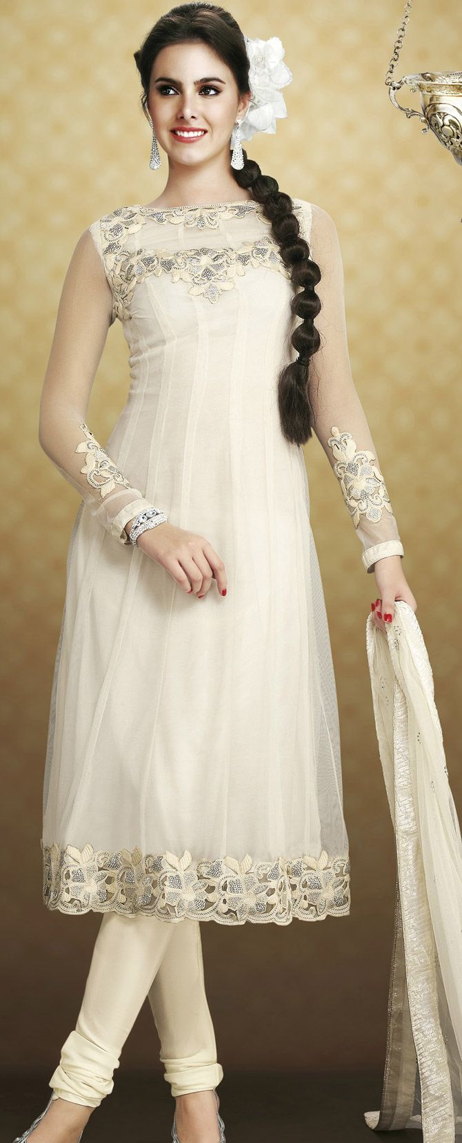 39 best images about White Salwar Fashion Designs on ...
