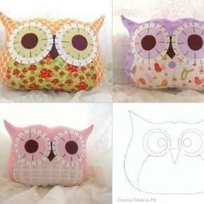 Owl Pillow • Free tutorial with pictures on how to make a bird plushie in under 60 minutes