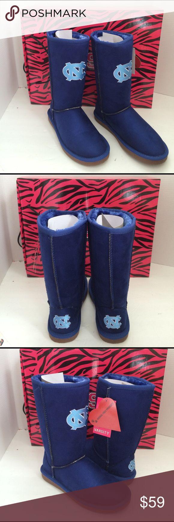 Cuce Shoes UNC Tarheels Blue Fur Lined Boots 6 Cuce Shoes UNC University of North Carolina Tarheels Blue Fur Lined Boots 6 Cuce Shoes Winter & Rain Boots