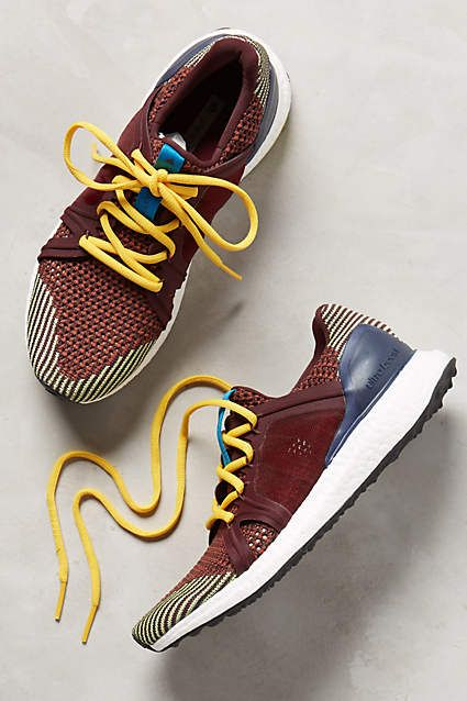 I'm not a big sneaker wearer but these I'd do.... Adidas by Stella McCartney Ultra Boost Knit Sneakers - anthropologie.com