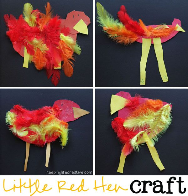 The Little Red Hen craft to go with the classic story