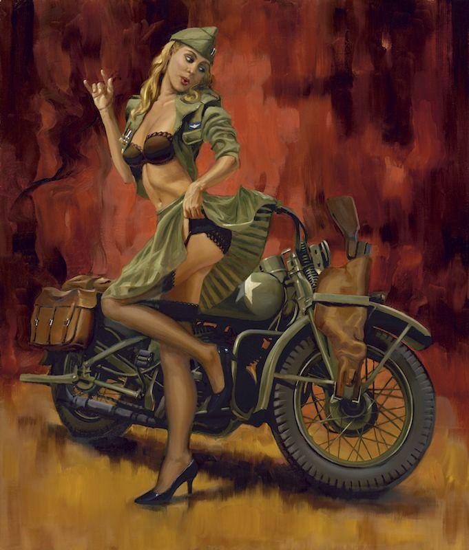 Motoblogn: David Uhl - Fine Art Master and Official Harley-Davidson Motorcycle Artist