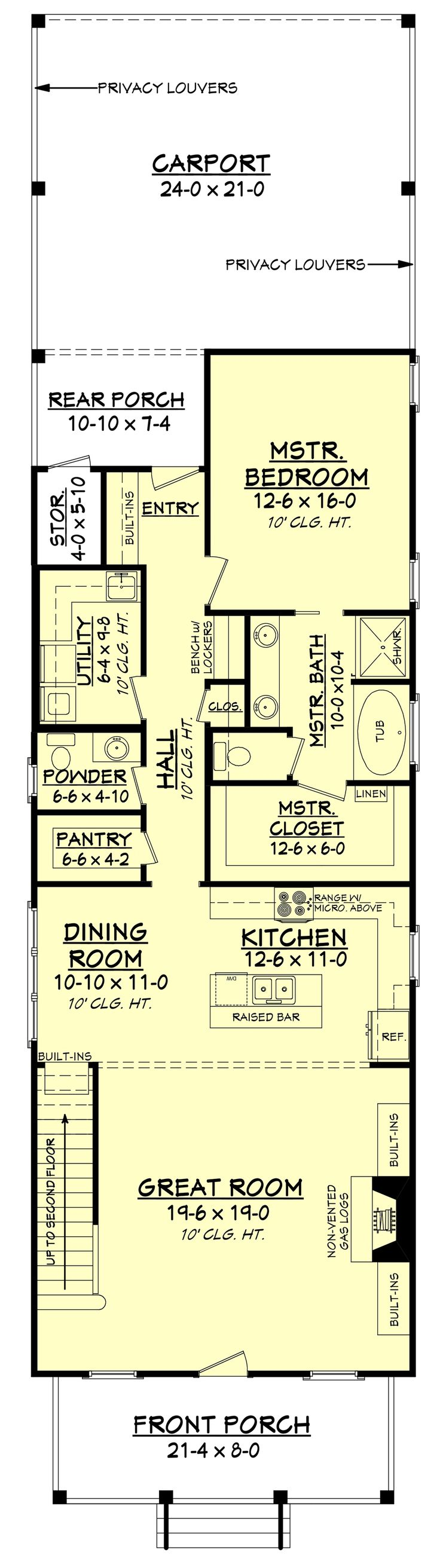 441 best house plans images on pinterest house floor plans this narrow lot 4 bedroom bath cottage style home has a grand appeal with ceilings throughout the first floor and good storage spaces
