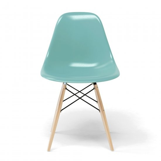 Chaise eames dsw bleu aqua chaises et bancs pinterest for Chaise dsw transparente