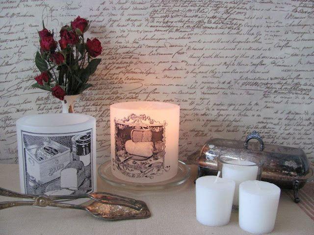 Шикарные винтажные свечи ручной работы.. Обсуждение на LiveInternet - Российский Сервис Онлайн-Дневников