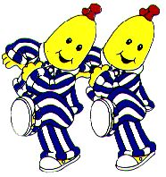 Banana's in Pajamas..omg i loved them! how weird.. lol