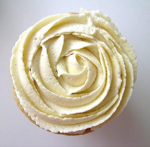 Martha Stewart's Grand Marnier Italian Buttercream Frosting - use Almond flavor instead of the liquor