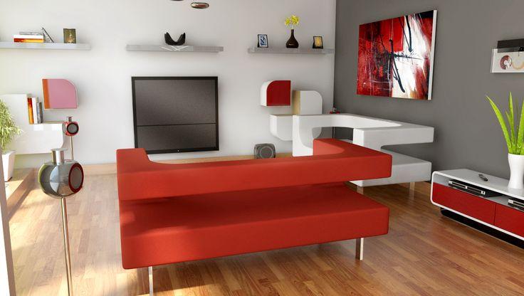 obývací pokoj v bytě - novostavba