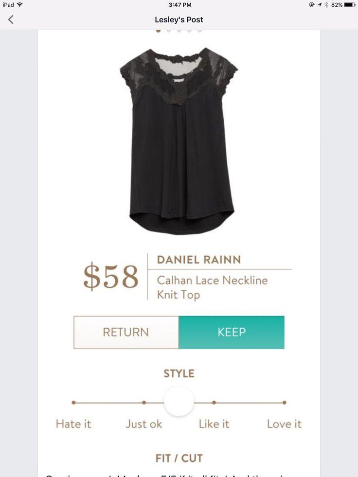 Stitch fix daniel rainn Calhan lace neckline knit top so cute