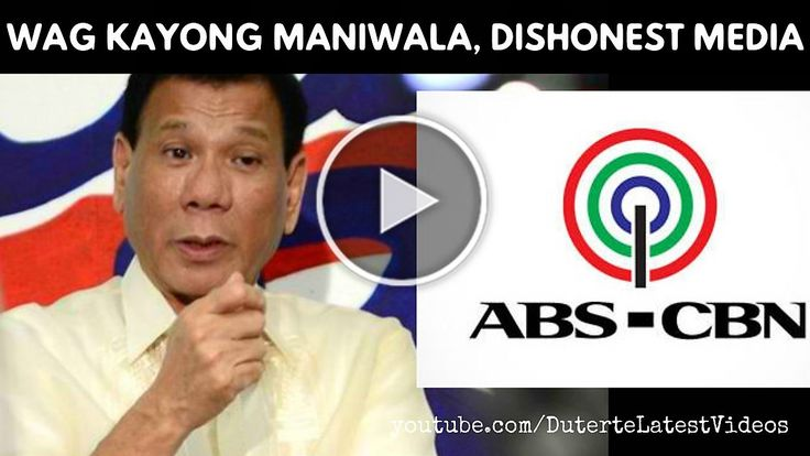 "DUTERTE SLAM ABS CBN FOR BEING BIAS & DISHONEST  National Housing Authority [NHA] (Feb 8) - WATCH VIDEO HERE -> http://dutertenewstoday.com/duterte-slam-abs-cbn-for-being-bias-dishonest-national-housing-authority-nha-feb-8/   President Rodrigo Duterte echoed United States President Donald Trump's sentiments against the ""dishonest"" media. ""Kaya huwag kayong masyadong maniwala iyang mga media-media. Huwag kang maniwala diyan. Sabi nga ni Trump eh di"
