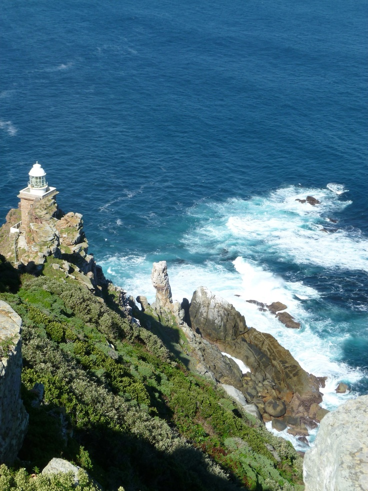 The lighthouse on the tip of Cape Point