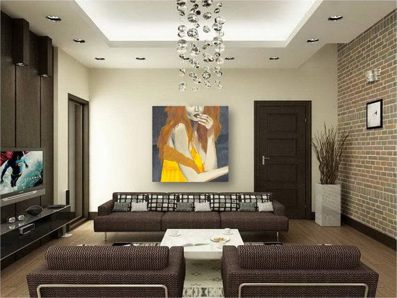 Attractive Zen Living Room Designs To Inspire You Wonderful Design With Brick Wall And Metal Legs Brown White Sofa Also Black Glossy TV