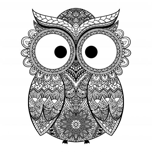 Advanced Coloring Pages Owls : Best advanced fantasy coloring pages images on