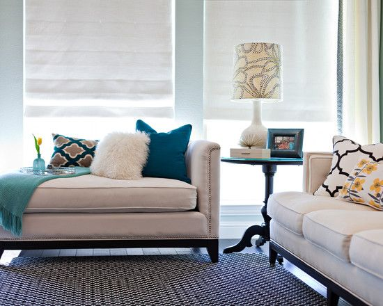 Love the teal, black and white.  Trying to do that in my living room.