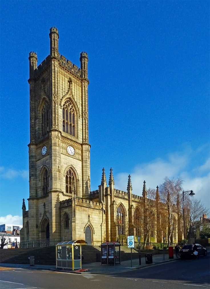 St Lukes bombed out church facade.