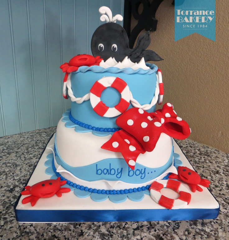 Oh-so-adorable nautical themed cake!