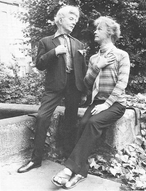 Quentin Crisp & John Hurt ('The Naked Civil Servant').