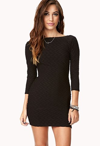 9a49f82702 Like the elegant look, but looks a bit too short. V-Back Bodycon Dress |  FOREVER21 - 2040496796 | Nuit à la mode