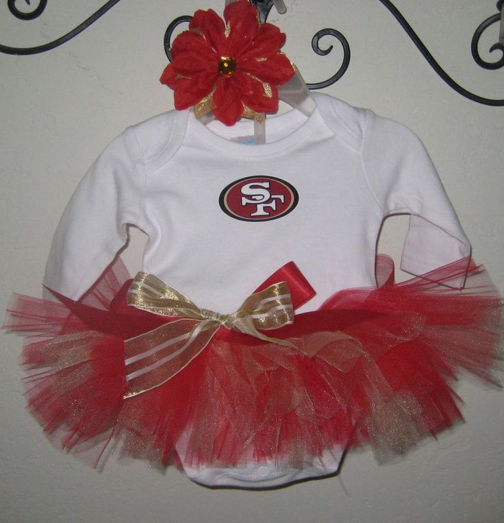 49ers Tutu Outfit, Newborn or 0-3 Months