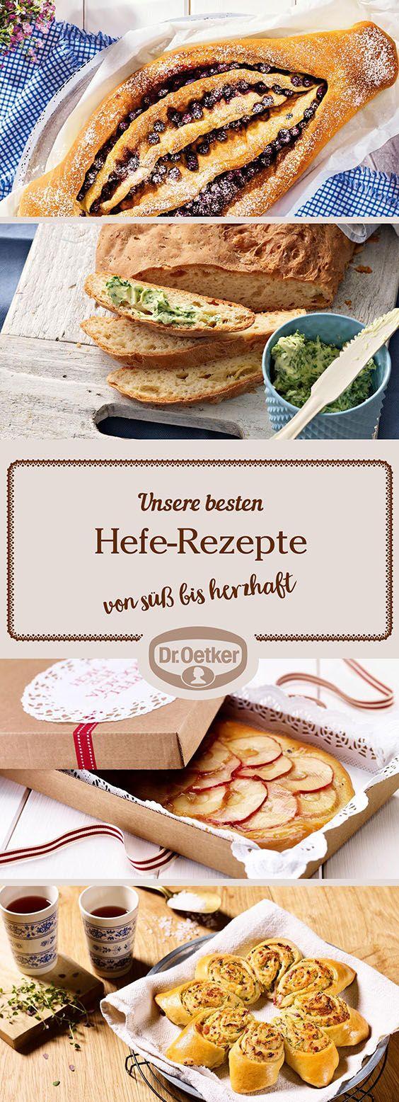 Hefeteig kann pikant oder süß gebacken werden und dient als Grundlage für viele köstliche Leckereien. Die Dr. Oetker Versuchsküche hat für jeden Geschmack das passende und gelingsichere Rezept entwickelt - lassen Sie sich inspirieren!