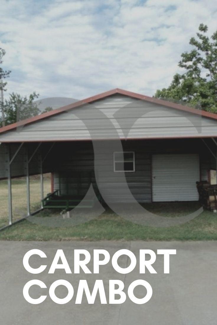 Pin By Jamie Jordan On Carport Combos Carport With Storage Metal Carports Carport